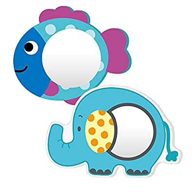 Nuby Bath Foam Mirrors, Pack of 2