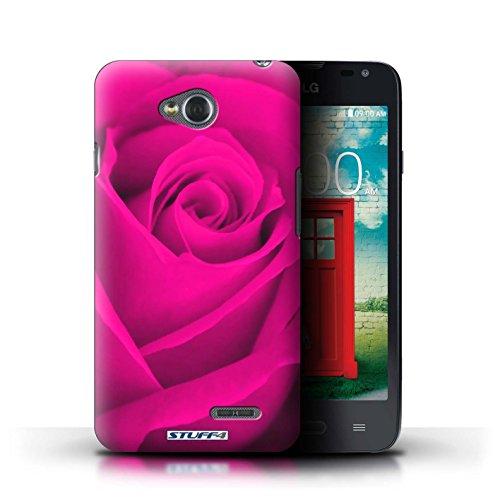 Kobalt® Imprimé Etui / Coque pour LG L65/D280 / Rouge conception / Série Rose Rose