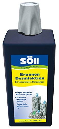 Söll 14649 BrunnenDesinfektion, Für besatzlose Zieranlagen, Brunnenpflege, 1 l