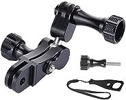 VKESEN Supporto a braccio girevole in alluminio con chiave a vite, compatibile con GoPro Hero 9, 8, 7, 6, 5, 4