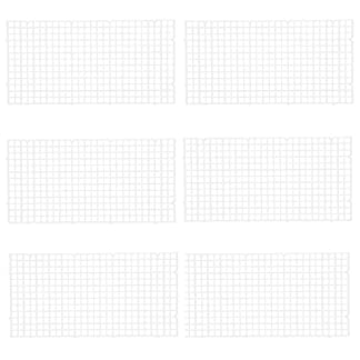 Wetrys 6 Pcs Grid Divider Tray Isolate Board Fish Tank Bottom White Filter Tray Aquarium Crate 16