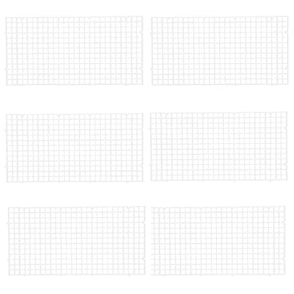 Wetrys 6 Pcs Grid Divider Tray Isolate Board Fish Tank Bottom White Filter Tray Aquarium Crate 1