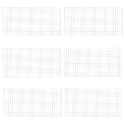 Wetrys 6Pcs Grid Trennwand Tablett Isolieren Schneidbrett Fisch Tank Unten Weiß Filter Tablett Aquarium Box