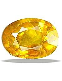 Mahadev Sales Pukhraj Stone Certified Natural Yellow Sapphire Gemstone 4 Ratti