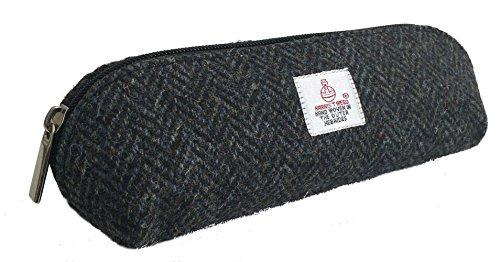 Traditionelle Mäppchen aus echtem Harris Tweed (Schwarz)