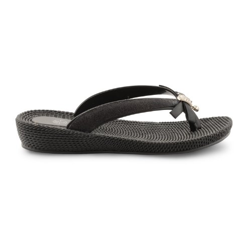 Footwear Sensation, Infradito donna Nero nero Nero (Black Ribbon Diamante)