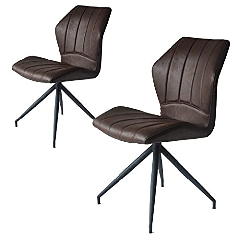 Jacky Esszimmerstühle 2er set   Design Stuhl mit Stoffbezug für Esszimmer   Burgundy Braun - Damiware (Stoffbezug Für Stühle)