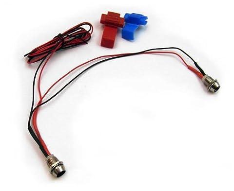 Ambientebeleuchtung für den Fahrzeuginnenraum, Lichtfarbe: Bernstein / Orange, Fassungen: Schwarz