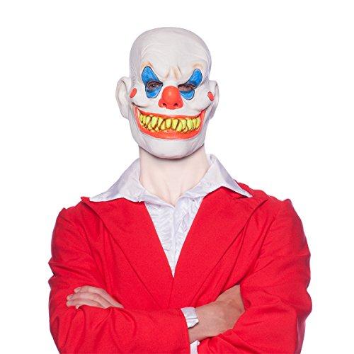 Careta Máscara de Látex Payaso Terrorífico Accesorios Carnaval Hall