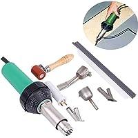 ridgeyard 1600 W Plastic Hot Air Welder Welding Gun con Speed Boquillas Roller PE PVC Plastic Rod