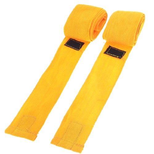 Haken Schleifenschluss orange Boxen Hand Supporter Wraps Bandagen Paar