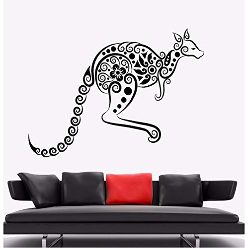 Knncch Wandaufkleber Känguru Tier Vinyl Wandtattoo Australien Ornament Wand Kunst Wandhaupt Wohnzimmer Dekor Känguru Vinyl ()
