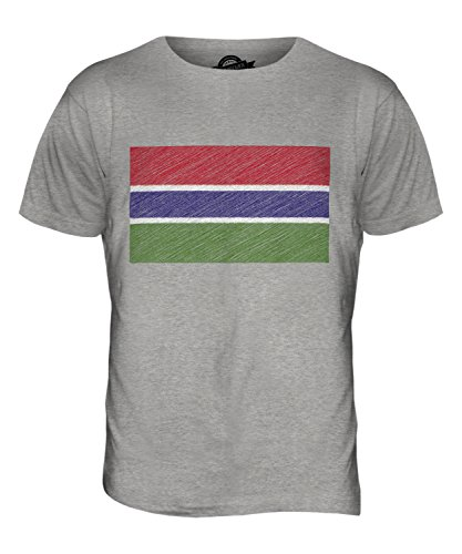 CandyMix Gambia Kritzelte Flagge Herren T Shirt Grau Meliert