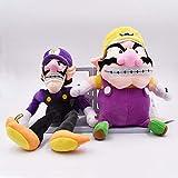 Super Mario - Set 2 Peluches Wario y Waluigi 28 cm / 2 Stuffed Plush Set 11'
