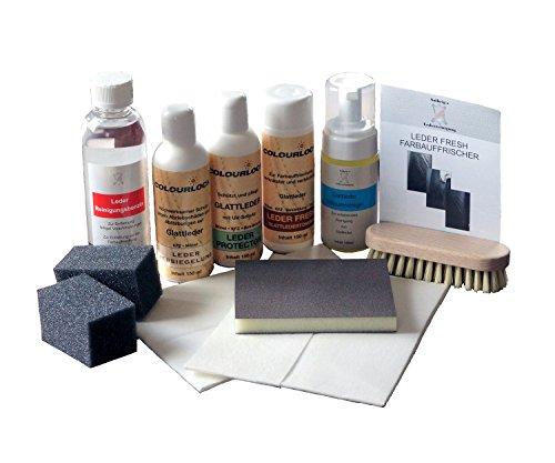 Färbeset (12 tlg.) passend für Lederausstattung Montana grau (N6TT) inkl. Reinigung, Schutz und Pflege