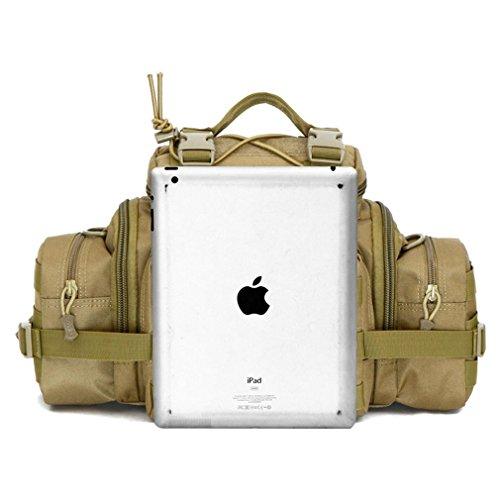 Männer und Frauen Handtasche Tarnung / Utility Taktische Taille Pack Military Molle Assault Beutel Trekking Wandern Bum Hip Pocket Ruck Sack Tragen Taschen desert