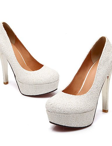 WSS 2016 Chaussures Femme-Mariage / Habillé / Soirée & Evénement-Argent / Or-Talon Aiguille-Talons / Escarpin Basique / Bout Arrondi-Chaussures à silver-us5.5 / eu36 / uk3.5 / cn35