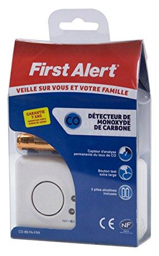 Preisvergleich Produktbild First Alert Kohlenmonoxid-Warnmelder,  mit französischem Qualitätssiegel NF