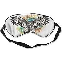 Eye Mask Eyeshade Owl Flying Painting Sleeping Mask Blindfold Eyepatch Adjustable Head Strap preisvergleich bei billige-tabletten.eu