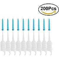 ULTNICE Dientes de cepillo dentales dentales de 200pcs Dientes de cepillo  dentales de palillo de dientes blandos. 16e0241bb26f
