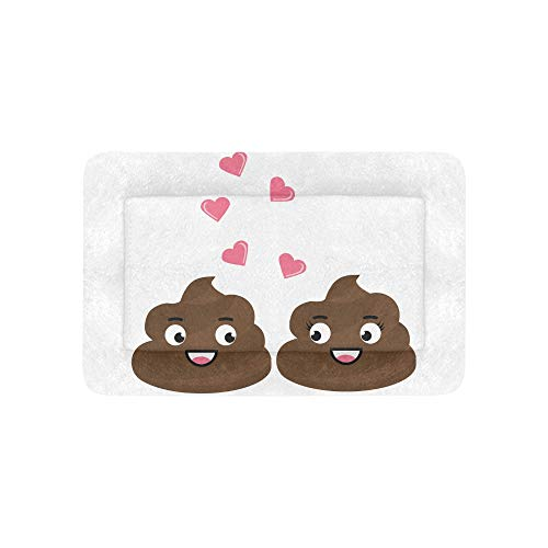 Emoji Cute Fun Poo Express Extra Große Individuell Bedruckte Bettwäsche Weiche Haustier Hundebetten Für Welpen Und Katzen Möbel Matte Cave Pad Abdeckung Kissen Geschenk 36 X 23 Zoll