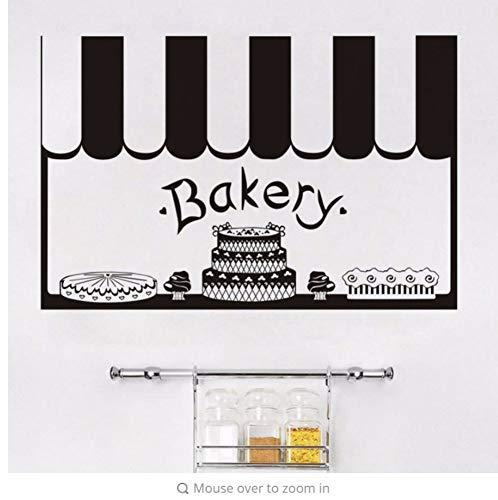 Zxfcczxf Aufkleber Kuchen Bäckerei Dekor Französisch Vinyl Wandaufkleber Tapete Wandbild Dekoration Diy Küche Fliesen Wandkunst86 * 50 Cm