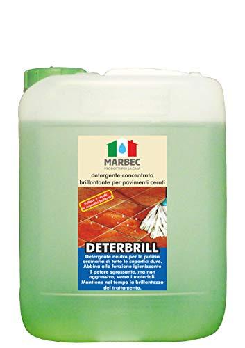 Marbec - DETERBRILL 5LT   Detergente concentrato brillantante per Pavimenti in Cotto e Pietra trattati a Cera