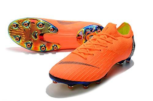 UnderU Herren Jungen Turf Fußball Fußball-Schuhe Outdoor Sport Sport-Schuhe Fußballschuhe Spikes Erwachsene Fußball Training Sneaker, Orange - Orange-Low - Größe: 41 EU