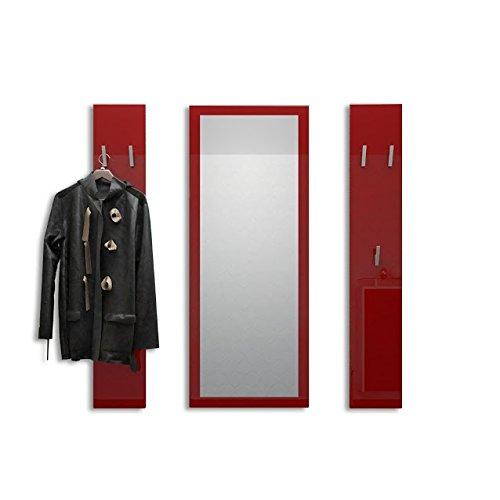 Attaccapanni Da Parete Con Specchio.Welcome Appendiabiti A Muro Con Specchio Disponibile In 13 Colori Consegnato In Colore Bordeaux