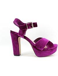 Zapatos Tacon Color Buganvilla