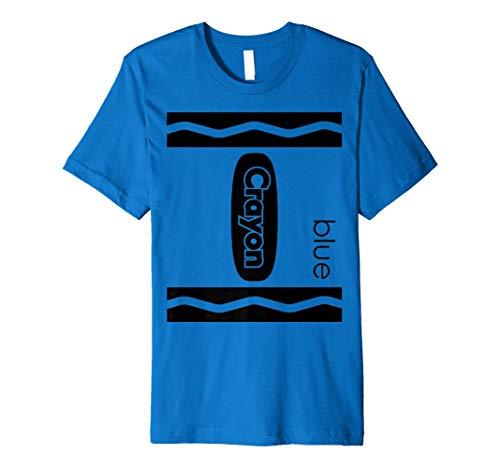 (Blue Crayon Blaues Buntstift Halloween Kostüm T-Shirt)