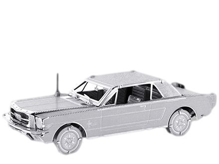 Metal Earth - 5061056 - Maquette 3D - Véhicules - 1965 Ford Mustang Coupe - 9 x 2,5 x 3,2 cm - 2 pièces