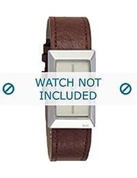 Dolce & Gabbana correa de reloj 3719040028 Cuero Marrón + costura marrón(Sólo reloj correa - RELOJ NO INCLUIDO!)
