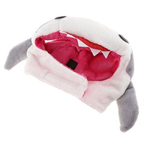 non-brand MagiDeal Süße Haustier Mütze Katzen Hunde Hut Cosplay Kostüm Zubehör für Halloween, Weihnachten und Geburtstag - - Hai Hut Kostüm
