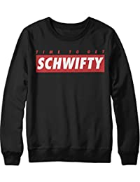"""Sweatshirt Rick & Morty Supreme Style """"TIME TO GET SCHWIFTY"""" C000023"""