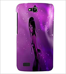 PrintDhaba Stylish Girl D-4008 Back Case Cover for HUAWEI HONOR HOLLY (Multi-Coloured)