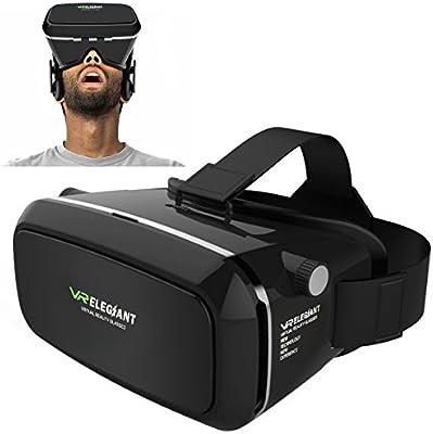 Universal ELEGIANT recambiarse virtual reality 3D VR spidercerdo trikini gafas de cartón video gafas de realidad virtual para 8.89 cm - 15.24 cm Android IOS iphone Samsung Google cartón óculo Rift Head mounted diadema