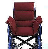 Ouding Confortable Coussin pour Fauteuil Roulant Chaise de Bureau Chaises de Salle à Manger Canapé Banc de Jardin (Rouge foncé)
