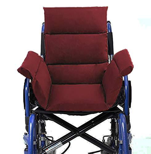 Komfortkissen für Rollstuhl Bürostuhl Esszimmerstühle Sofa Gartenbank (Dunkelrot)