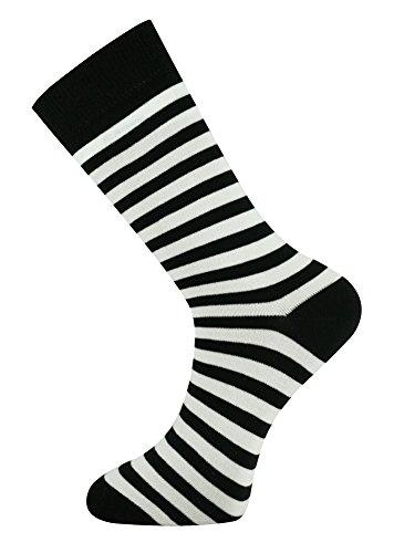 MySocks Streifen weiß schwarz