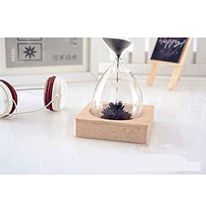 Mengonee Temporizador de arena soplado a mano del reloj de arena del reloj de arena del artesano del imán para la decoración casera de escritorio del regalo de Mengonee