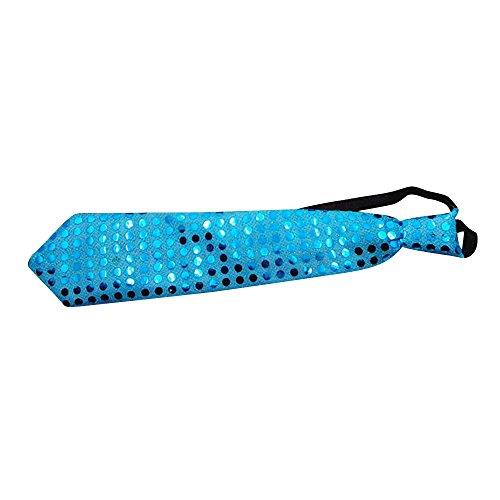 Merssavo Zufällige Farbe LED-Blitz glänzende Stück-Glühen-Bindung / Stab-Ereignis-Partei verzieren (Sie Stellen Blitz Kostüm)
