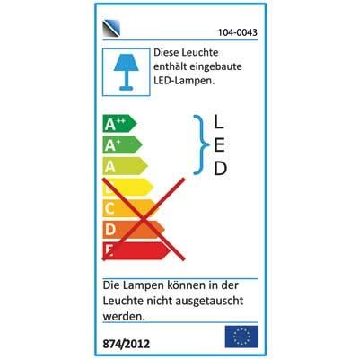 4-tlg. Anbauwand in Akazie dunkel Nachbildung, inklusive LED-Beleuchtung, Gesamtmaß: B/H/T ca. 356/200/54 cm - 4
