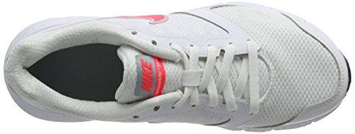 Nike Downshifter 6, Chaussures de Running Compétition Femme Blanc (White/Hyper Punch/Light Magnet Grey)