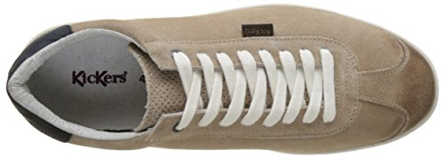 Kickers Snacker, Baskets Basses Homme Beige (Beige)