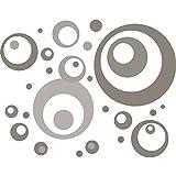 Eurographics DS-DT60047 Brown Grey Bubbles 50x70 Wandsticker, Papier, Grau, 70 x 50 x 0.4 cm