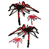 Dandeliondeme 1 Satz 3D Mode Spinnen Wasserdichte Auto Körper Rückspiegel Aufkleber Dekor für Notebook Skateboard Snowboard Gepäck Koffer MacBook Auto Fahrrad Stoßstange rot