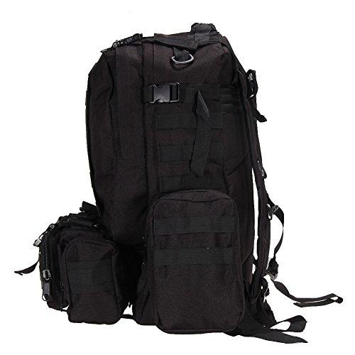 Broadroot da escursionismo borsa zaino sacchetto Fit per campeggio viaggio ciclismo caccia pesca scuola, Black Black