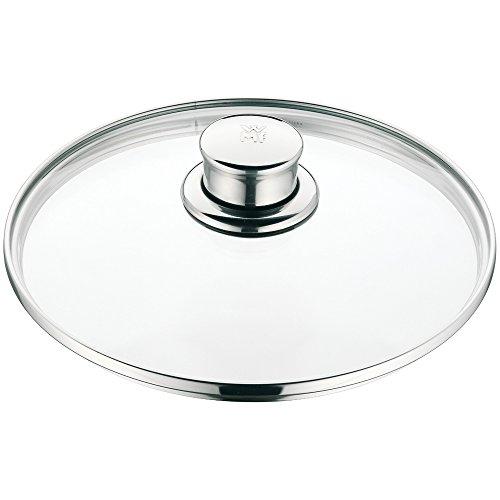 WMF Diadem Plus Glasdeckel, 20 cm, Topfdeckel mit Metallgriff, hitzebeständiges Glas, spülmaschinengeeignet