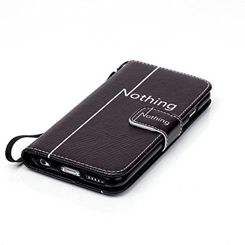 MOONCASE Étui pour iPhone 6 Plus / 6S Plus (5.5 inch) Printing Series Coque en Cuir Portefeuille Housse de Protection à rabat Case YB12 YB06 #0305